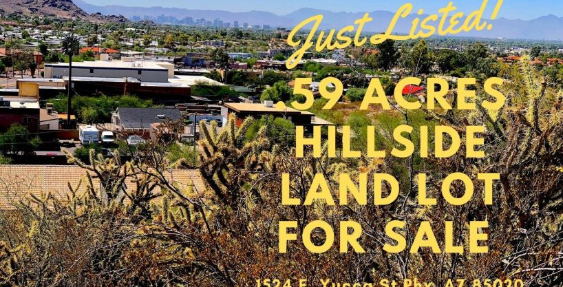 Phoenix Hillside land for sale – 1524 e Yucca St Phoenix, AZ 85020 – 16th St & Cave Creek area