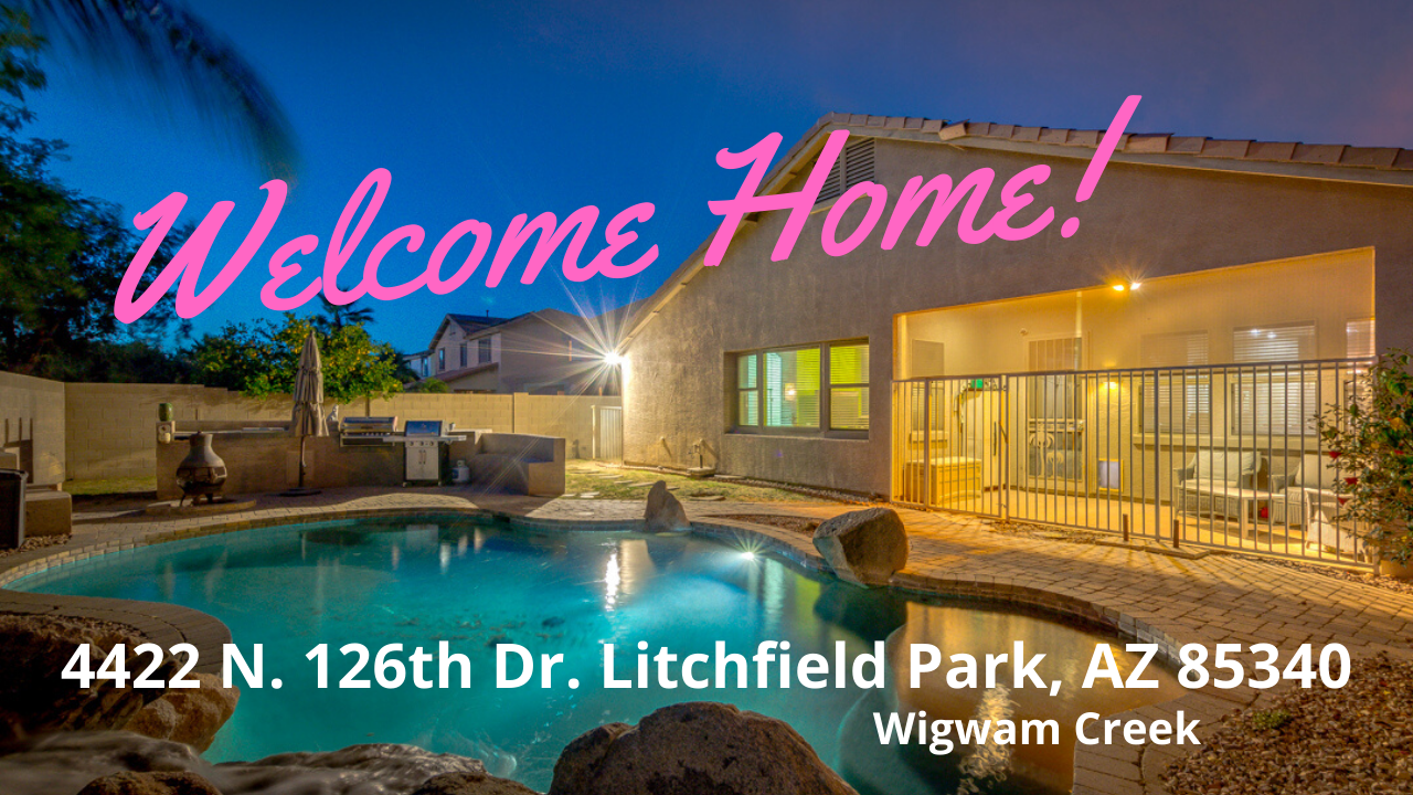 Wigwam Creek – corner lot POOL property – 4 beds – 3 baths – Great location!