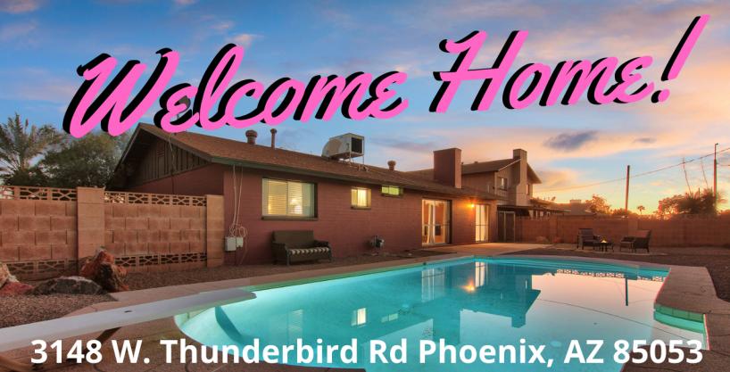 Large Pool Lot – 3 beds, plus a den, 2 baths – Great Phoenix location